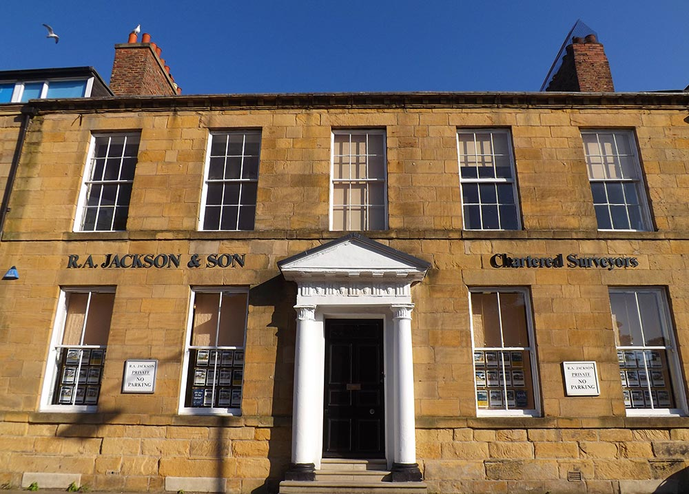 RA Jackson offices at 18 Northumberland Square, North Shields